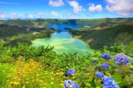 Azori - zeleno i plavo